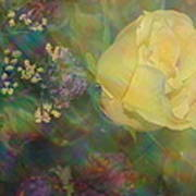 Impressionistic Yellow Rose Poster