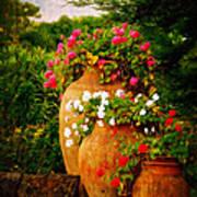 In A Portuguese Garden - Digital Oil Poster