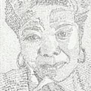 In Her Own Words Maya Angelou Poster by Beverly Marshall