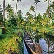 In The Backwaters Of Kerala Poster