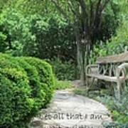 In The Garden Poster