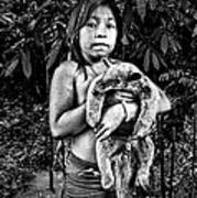 Girl With Oso Dormilon Poster