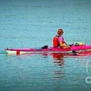 In The Pink Kayaker Poster
