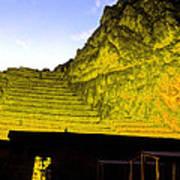 Incan Ruins Sacred Valley Peru Poster