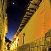 Incan Street Cusco Peru Poster