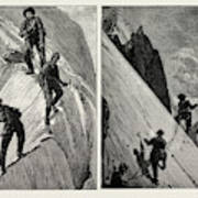 Incidents Of Climbing In The High Alps, 1889 On The Alsirat Poster