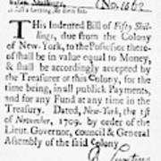 Indented Banknote, 1709 Poster