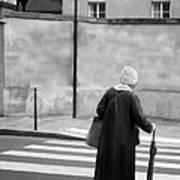 Independence - Street Crosswalk - Woman Poster