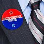 Independent Voter Pin Poster