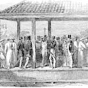 India Train Station, 1854 Poster