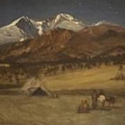 Indian Encampment - Evening Poster