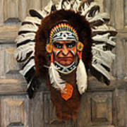 Indian Headdress In  Brown Poster