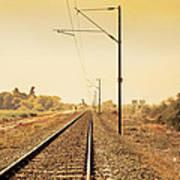 Indian Hinterland Railroad Track Poster