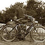 Indian Camelback Motorcycle Circa 1908 Poster