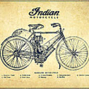 Indian Motorcycle - Vintage Poster