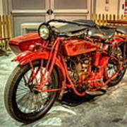 Indian Motorcycle With Sidecar Poster