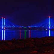 Indian River Inlet Bridge After Dark Poster