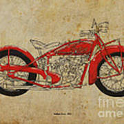 Indian Scout 1928 Poster by Pablo Franchi