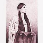 Indian Sioux Maiden Poster by Billie Bowles