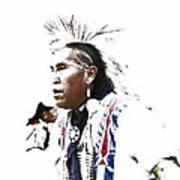 Indian Warrior Poster by Robert Jensen