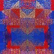 Indian Weave Abstract Poster