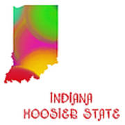 Indiana State Map Collection 2 Poster