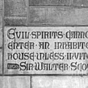 Indiana University Memorial Hall Inscription Poster