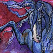 Indigo Horse 1 Poster