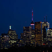 Indigo Sky And Toronto Skyline Poster