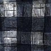 Indigo Squares 4 Of 5 Poster