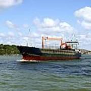 Industrial Cargo Ship Poster