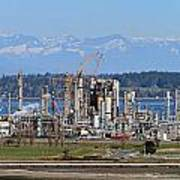 Industrial Refinery Poster