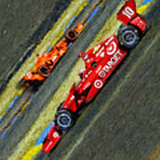 Indy Car's Tony Kanaan Poster by Blake Richards