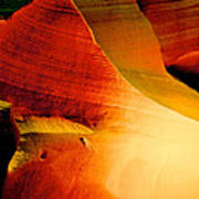Inferno In Lower Antelope Canyon-az Poster