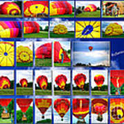 Inflation Hot Air Balloon Poster