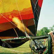 Inflation Of A Hot Air Balloon Poster