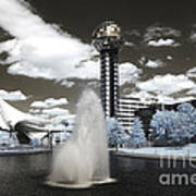 Infrared City Park Poster