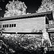 Infrared Covered Bridge Poster