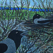 Inis Meain 5 Hooded Crows Poster