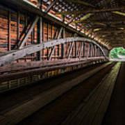 Inside Covered Bridge Poster
