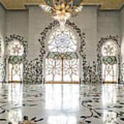 Inside Sheikh Zayed Grand Mosque - Abu Dhabi Poster