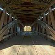 Inside The Cox Ford Covered Bridge Poster