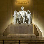 Inside The Lincoln Memorial Poster