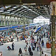 Inside Train Station, Nice, France Poster