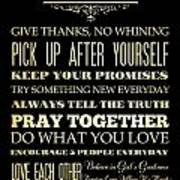 Inspirational Art - House Rules. Poster