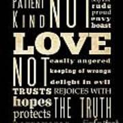 Inspirational Art - Love Never . Poster