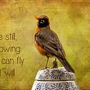 Inspirational Robin Poster