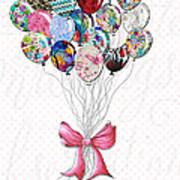Inspirational Uplifting Floral Balloon Art A Bouquet Of Balloons Just For You By Megan Duncanson Poster