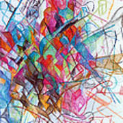 Interchange Between Ambition And Restraint 2 Poster by David Baruch Wolk
