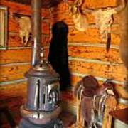 Interior Cabin At Old Trail Town Poster
